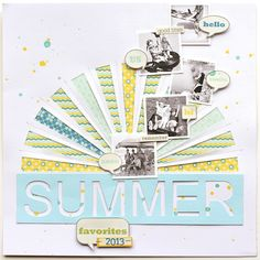 I love the stitching, the sun, the layout of the photos! Adrienne Alvis