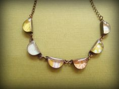 bunting necklace by jadescott on Etsy, $58.00
