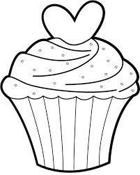 Image result for cupcake outlines