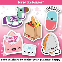 New releases now up in my shop! Which is your favourite? #happycutiestudio #etsy #sticker #stationery #illustration #cute #design #vector #kawaii #planner #planneraddict #plannerlove #plannerstickers #plannercommunity #plannerjunkie #plannergeek #happyplanner #filofax #erincondren #lovetoplan #stickeraddict #plannernerd #silhouettecameo #eclp by happycutiestudio