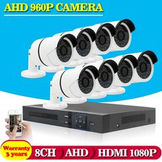 265.18$  Watch here - http://alip3t.worldwells.pw/go.php?t=32471683742 - 1080P 8CH AHD DVR Recorder 1.3MP Outdoor Waterproof Cameras CCTV System Kit 8 Channel Video Surveillance Camera HDMI 1080P Kit