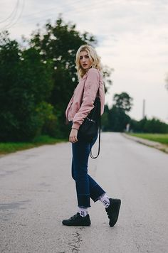 Get this look: http://lb.nu/look/8434371  More looks by Bari Bircak: http://lb.nu/baribircak  Items in this look:  Prestige Sneakers, Ponsh Socks, Stradivarius Jeans, Stradivarius Bomber, Black Backpack   #casual #street #blogger #fblogger #slovakia #blonde #streetstyle #streetwear #bomber