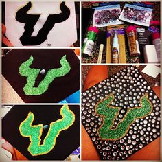 Step-by-step #USF graduation cap decoration by @shana Harrison