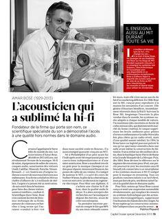 Capital Dossier spécial luxe 2015. 50 génies du luxe, Amar Bose,