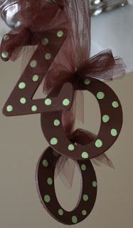 Party décor - ZOO, or child's age. change to fit color scheme! ribbon and wood letters