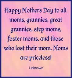Happy Mother's Day to all the great Moms out there.  I unfortunately lost my mother lost year.  She is greatly missed by me and my family!  #quote