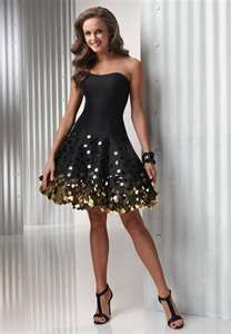 Picture Of Sassy Black Taffeta Sweetheart Short Bubble Hem Cocktail Sequin Dress T I F A N Y G R E Moms 50th Birthday