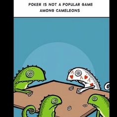Poker face fail.
