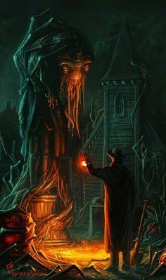 Cthulhu by lantern light.