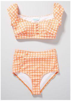 Cute Plus Size Swimsuits, Plus Size Bikini Bottoms, Women's Plus Size Swimwear, Retro Swimwear, Curvy Swimwear, Vintage Swimsuits, High Waisted Bikini Bottoms, Bikini Top, Plus Size Two Piece