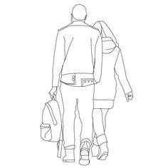 Pair walking away