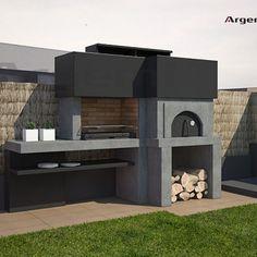 Barbacoas archivos - Argemi PrefabricatsArgemi Prefabricats Modern Outdoor Fireplace, Outdoor Fireplace Designs, Backyard Pavilion, Backyard Patio, Parrilla Exterior, Barbecue Garden, Outdoor Grill Station, Barbecue Design, Brick Bbq