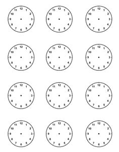 Worksheets Blank Clock Face Worksheet Printable free printable blank clock faces worksheets math thinks piece more
