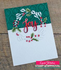 Hey folks! It's that time again! It's time for the Catherine Pooler Stamp of Approval Release! This Collection is called Winterhaven and I...
