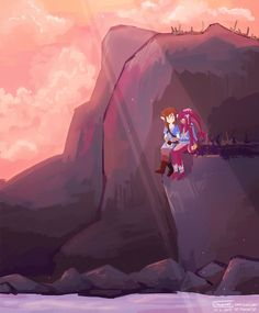 Mipha and Link by Chromel on DeviantArt Legend Of Zelda Memes, Legend Of Zelda Breath, Mipha And Link, Different Points Of View, Link Zelda, Twilight Princess, Breath Of The Wild, Ship Art, Best Games