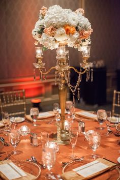 wedding centerpiece idea; Bridgette Marie Photography