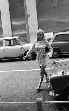 King's Road in Chelsea, London. 1969.