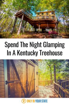Enjoy family fun or a romantic getaway at this beautiful Kentucky treehouse that upgrades camping to glamping. Relax in the forest while enjoying amenities like air conditioning, a kitchenette, and a wrap-around balcony. Summer vacation, anyone?!? Best Bucket List, Hidden Beach, Creature Comforts, Romantic Getaway, Kitchenette, Outdoor Recreation, Treehouse, Stargazing, Natural Wonders