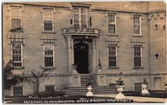 Real Photo Postcard Entrance to the State Prison in Waupun, Wisconsin~108090