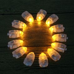 12pcs Mini LED Party Lights for Lantern Small Balloon Light Floral Mini Led Lights for Wedding Party Glass Vases