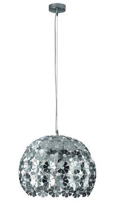 Lampara Colgante de Techo Esfera Flores Aluminio 39cm