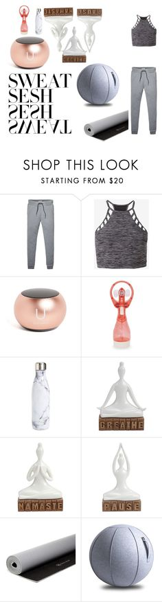 """""""yoga---follow meh :D"""" by jacqkeni ❤ liked on Polyvore featuring Tommy Hilfiger, Express, Sunnylife, S'well and Gaiam"""