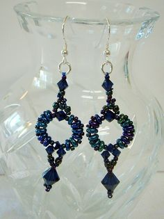 Earrings Made with Swarovski Crystals & Superduos