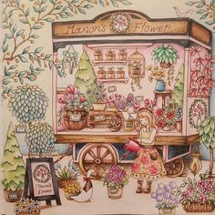 Instagram media shizuzuzu.k - . 〔マノンの出張花屋〕。 . . マノンのエプロンにマステ使いました♡。 境目難しい(..)。…