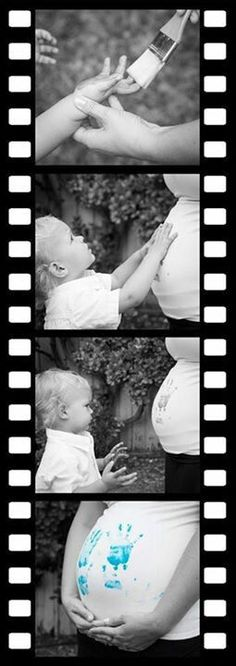 Gender reveal - just had to pin this because that little boy looks exactly like Brecken!
