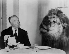 Hitchcock tea with a lion