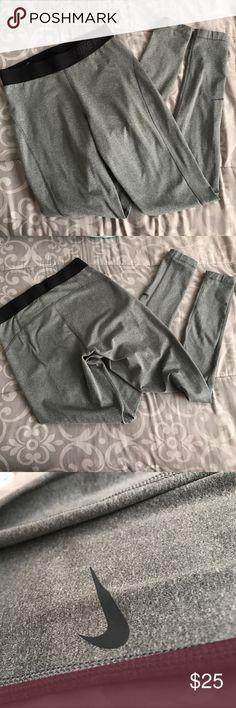 Grey Nike Pro leggings Grey Nike Pro Nike Pants Leggings