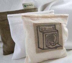 Lavender Sachet Dryer Pillow Sheets Alternative Organic  Upcycled from tShirt Material SET of THREE. $12.75, via Etsy.