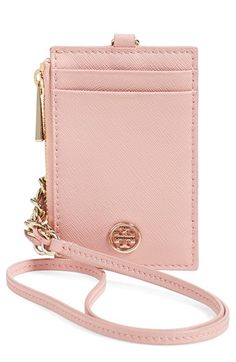 Tory Burch 'Robinson' Saffiano Leather Card Case available at #Nordstrom