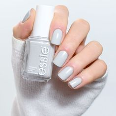 One of our fave essie winter shades? 'go with the flowy' a cloudlike dove gray shade. Get your hands on this perfect wintery shade here: