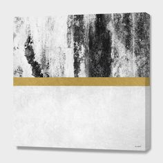 """""""Golden Line / White"""", Numbered Edition Canvas Print by Elisabeth Fredriksson - From $89.00 - Curioos"""