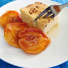 Potatoes get a new lease on life in my potato pudding recipe with hints of almond extract, cardamom and cinnamon and is delicious with stewed dried peaches.