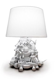 Handmade Recycled Toy Lamp: Wish my kids were still little so I could justify buying one of these.