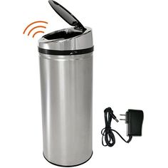 iTouchless 13 Gallon Automatic Stainless Steel Touchless Trash Can NX with AC Adaptor | Overstock.com Shopping - The Best Deals on Trash Cans
