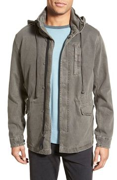 James Perse Utility Jacket with Packable Hood