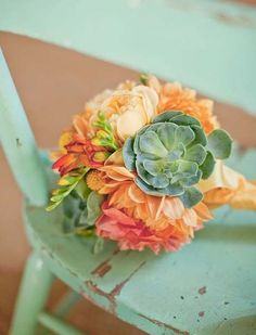 succulents with flowers <3