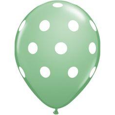 Big Polka Dots Wintergreen 11 inch Latex Balloons - Balloons - Shop by Product PlatesAndNapkins.com