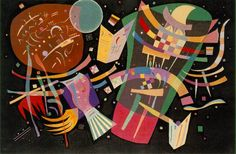Kandinsky wanted to express his interior emotional and spiritual life on canvas. He felt that the bold use of colour and abstract shapes could best describe his spiritual leanings.