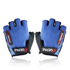 BoBin Ultra-breathable Cycling Glove Bike Bicycle Half Finger Silicone Gel Gloves (Blue, XL) * Learn more by visiting the image link.