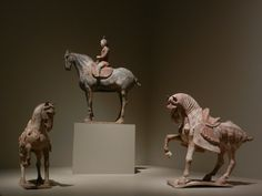 Lady on horseback Shaanxi or Henan province, China Tang dynasty (618-907), 675-750 Molded and sculpted earthenware with grey, red, and white pigment Portland Art Museum