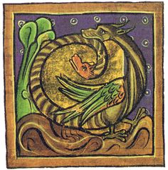 Amphisbaena - two-headed monster    Oxford Ms. Bodley 764