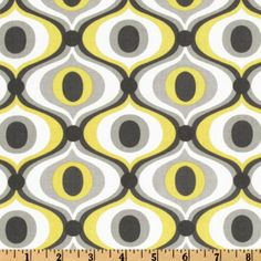 Michael Miller Feeling Groovy Fabric Citron by bragaboutbaby Tissu Michael Miller, Michael Miller Fabric, Retro Fabric, Cool Fabric, Vintage Sports Nursery, Fabric Design, Pattern Design, Tile Design, Zentangle