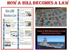 How a Bill Becomes a Law – Lecture, Game Board Project, Re 5th Grade Social Studies, Teaching Social Studies, Student Teaching, Teaching Ideas, Elementary Teacher, School Teacher, Teacher Stuff, Teaching Government, Middle School Activities
