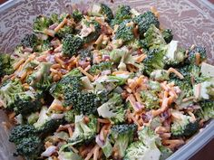 broccoli salad- so excited to find this recipe. A favorite of gennell's and I'm hooked too!