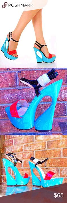 CLR: BLUE SZ:8.5 BRAND NEW HIGH QUALITY  Last One! CLR: BLUE SZ:8.5 BRAND NEW HIGH QUALITY  Last One ! It should fit to size 7 to 8 Shoes Platforms