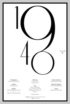 40's typography inspiration for New Year's Eve invite Volt Cafe | Volt Magazine
